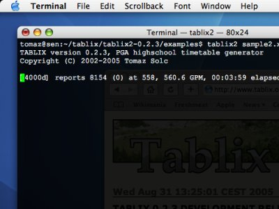 Tablix running on Mac OS X