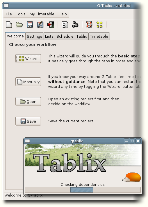 G-Tablix user interface