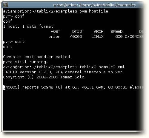Tablix command line interface