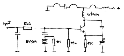 Schematic of a 433 MHz weather station transmitter