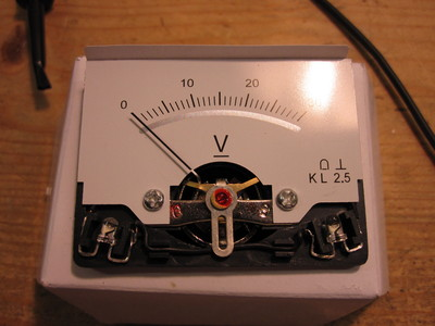 Panel voltmeter without the front cover