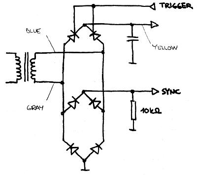 Simplified thyristor regulator diagram