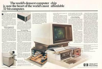 Hewlett Packard 9000 advertisement