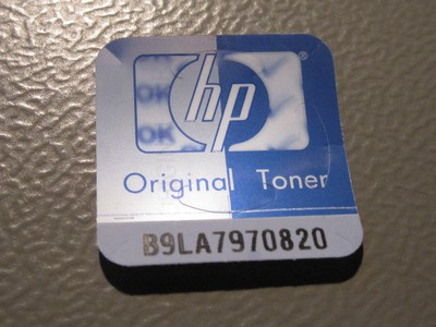 Sticker with lenticular print from a HP toner cartridge