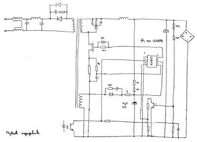 MyBook power supply partial schematic