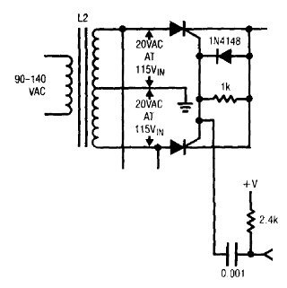 SCR trigger using a capacitor