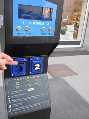 Vehicle charging station from Elektro Ljubljana