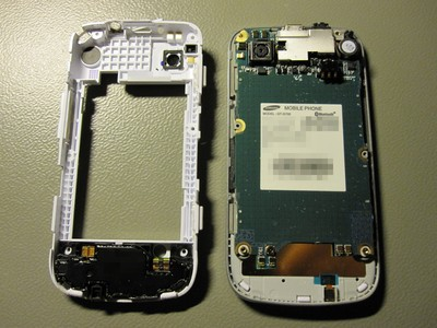 Samsung GT-I5700 with the PCB exposed