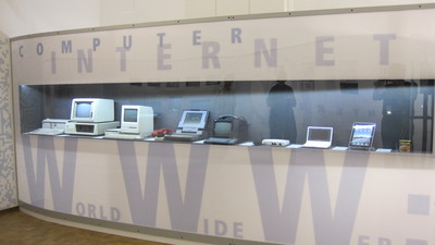 Computer display at Verkehrsmuseum, Nürnberg
