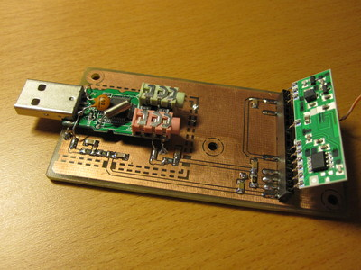 Prototype USB connected 433 MHz AM receiver