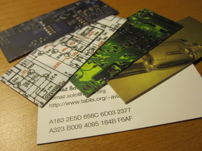 My new batch of Moo cards