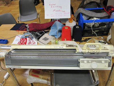 Hacked Brother KH930 knitting machine