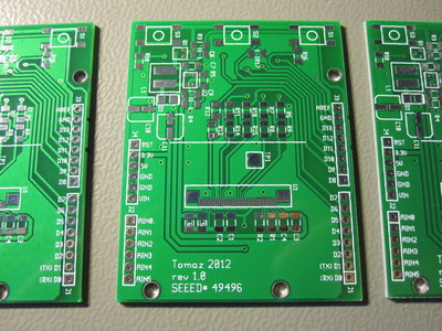 PCBs for an Arduino shield with an OLED display