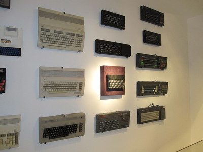 Wall of Sinclair and Commodore computers at GOTO 1982