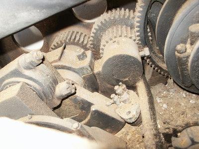 A bunch of rusty gears.