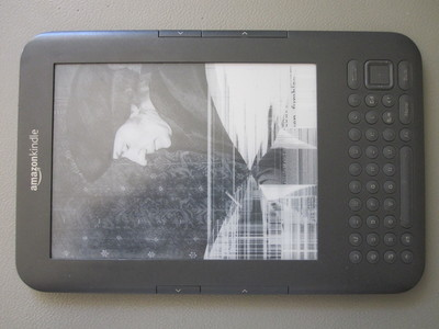 Kindle 3 with a broken screen
