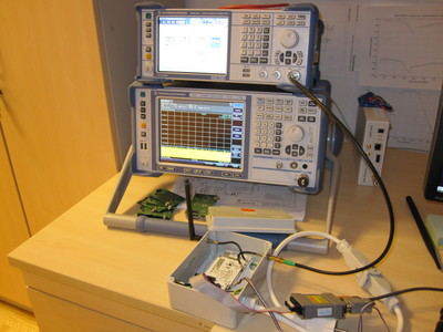 Automated radio receiver measurement setup.