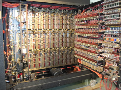 Inside of the Bombe machine replica