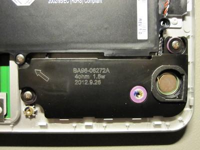 Chromebook left speaker close-up
