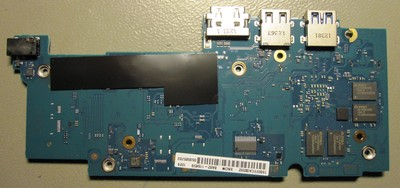 Chromebook motherboard, bottom side
