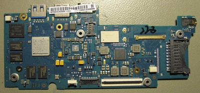 Chromebook motherboard, top side