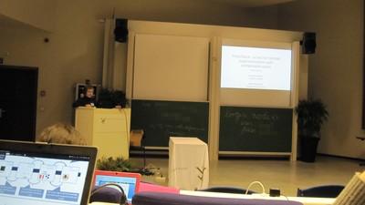 Carolina Fortuna giving a tutorial on ProtoStack
