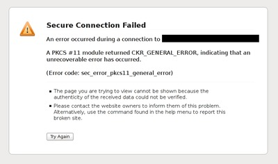 sec_error_pkcs11_general_error message in Iceweasel