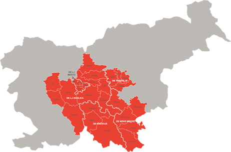 Distribution network of Elektro Ljubljana
