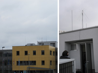 Discone antenna for CREW-TV trial base station.