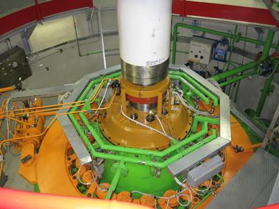 Francis turbine in HE Završnica.