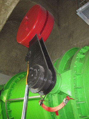 Safety valve on the high-pressure pipeline for HE Moste