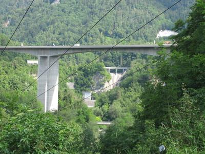 Viadukt Moste and HE Moste dam.