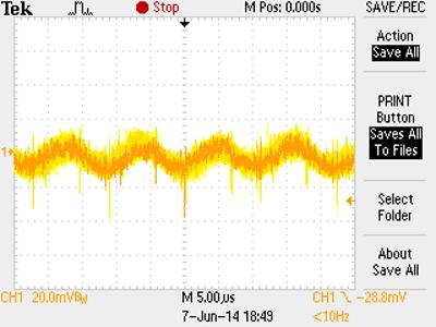 VPP voltage ripple when under load.