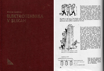 Elektrotehnika v slikah, cover and page 56