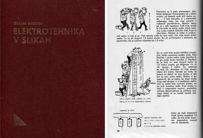 Elektrotehnika v slikah, cover and page 56