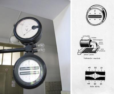 Mechanical frequency meter in HE Završnica