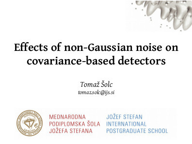 Effects of non-Gaussian noise on covariance-based detectors title slide