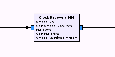 M&M Clock Recovery block from GNU Radio