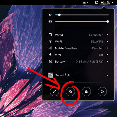 Rotation lock button in GNOME 3.14