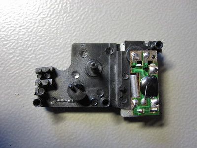 Circuit board in the clock movement.