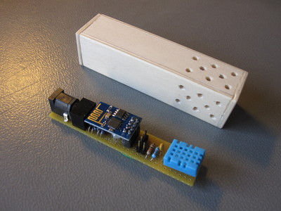 Wireless humidity monitor based on the ESP8266 module.