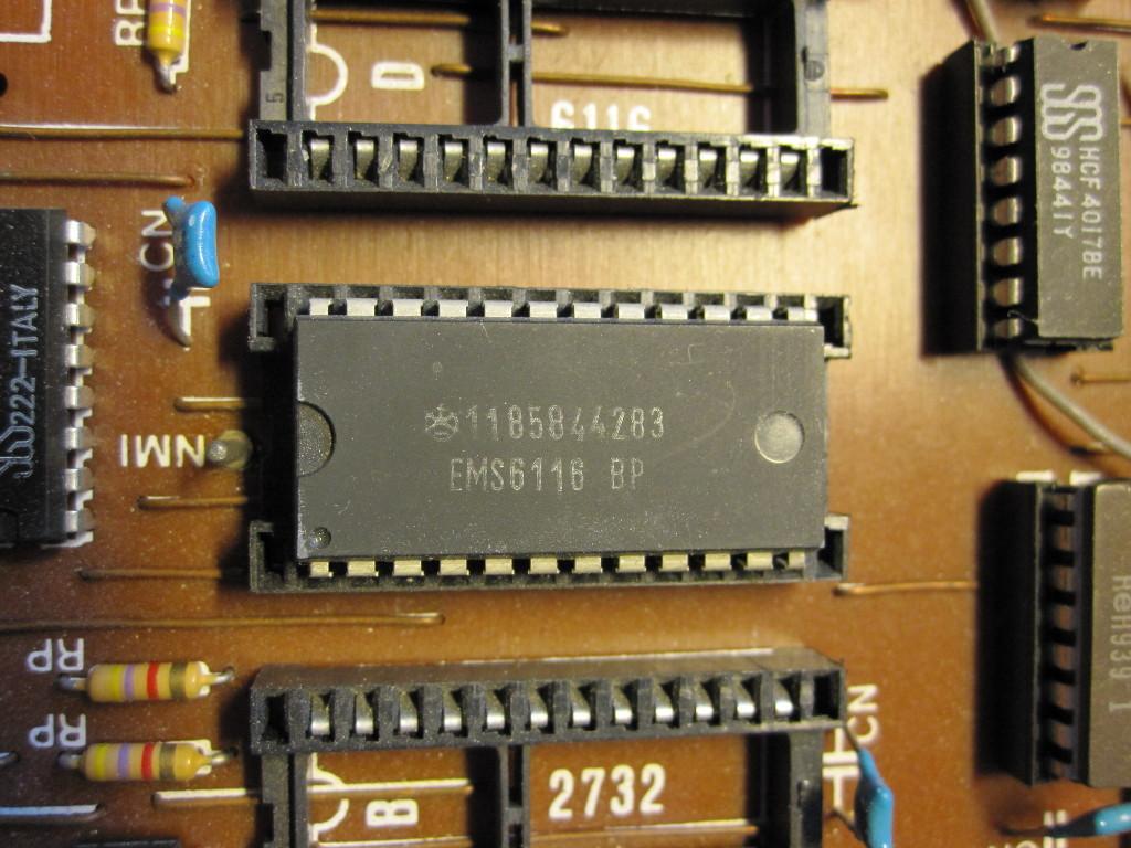 Avians Blog Testing Galaksijas Memory Computer Ram Chips With Binary Code A Circuit Board Iskra Ems6116 Static On Galaksija