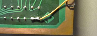 Elektronika inženjering logo on Galaksija PCB.