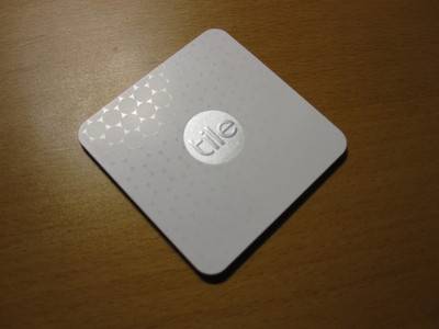 Tile Slim Bluetooth tracker.