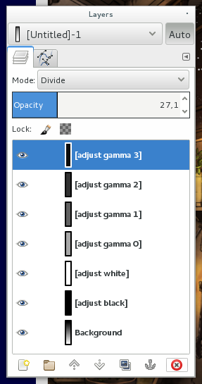 gimp layers not showing up