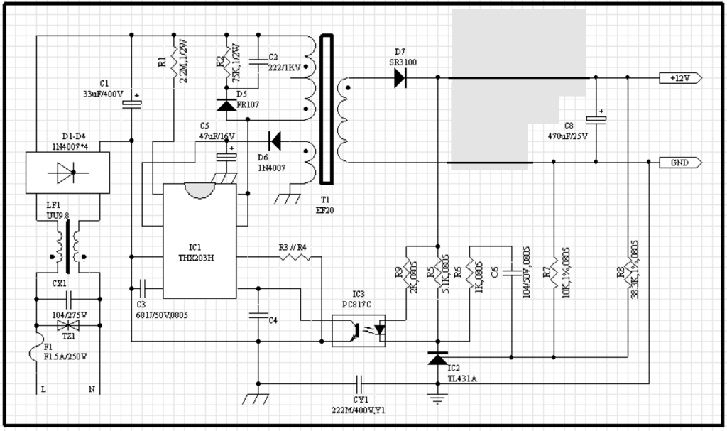 Avian's Blog: On the output voltage of a real flyback converter on power schematic, nautilus schematic, audio schematic, capacitor schematic,