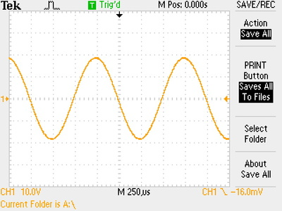 Output signal at maximum level before distortion.