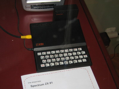 ZX81 exhibited at the Frisk festival.