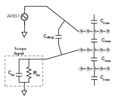 Breadboard capacitance measurement schematic.
