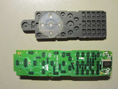 Circuit board and rubber membrane of the RC-5340.
